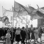Майские праздники в городе Куйбышев. 1946-1977