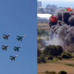 Два авиашоу водин день: катастрофа вСассексе итриумф «Витязей» вСамаре. Видео