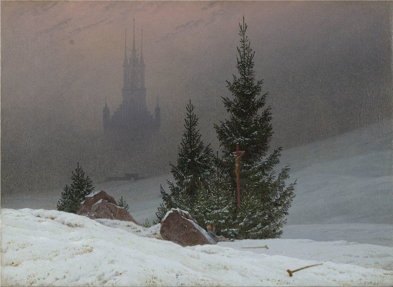 Caspar David Friedrich Winter Landscape