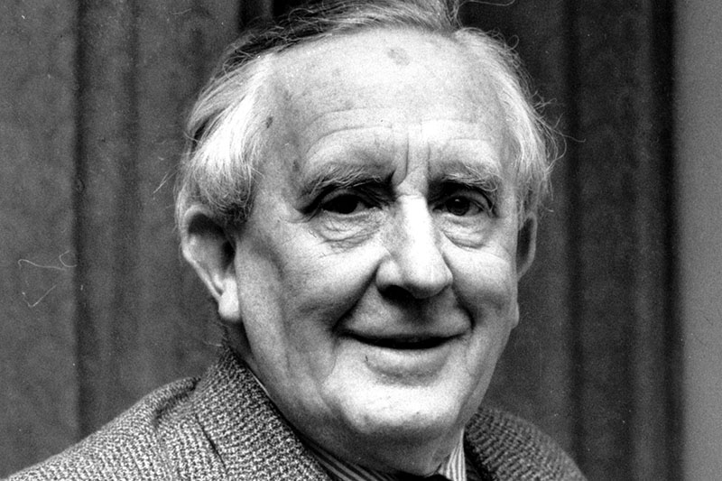 "This is a 1967 photo of J.R.R. Tolkien. Tolkien is the author of ""The Lord of the Rings"" and an Oxford University Professor. (AP Photo)"
