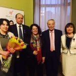 Ольга Рыбакова награждена французским орденом «искусств иизящной словесности»